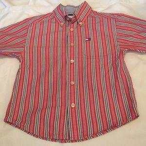 Tommy Hilfiger boys striped short sleeve shirt